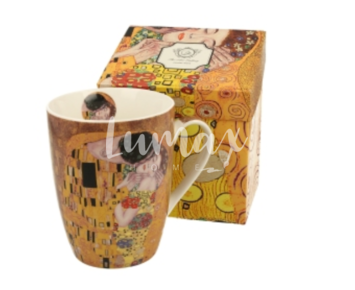Porcelánbögre, 390ml, Klimt: The Kiss